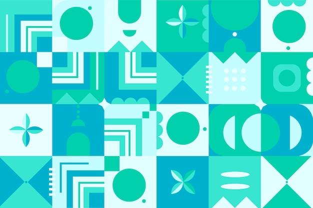 Wandtapete im geometrischen stil