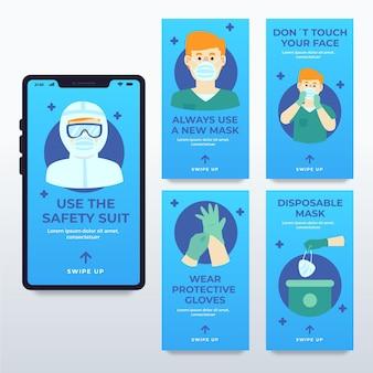 Wann und wie verwenden sie sanitäre schutzausrüstung instagram geschichten