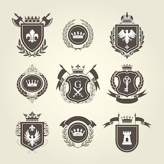 Wappen und ritterwappen - wappenschilde