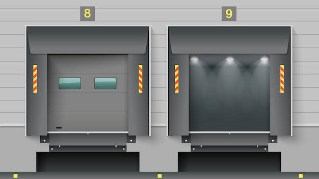 Warehouse cargo gate