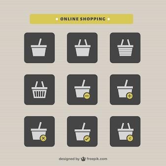 Warenkorb online-shopping-satz