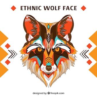 Warme farben ethnischer wolf
