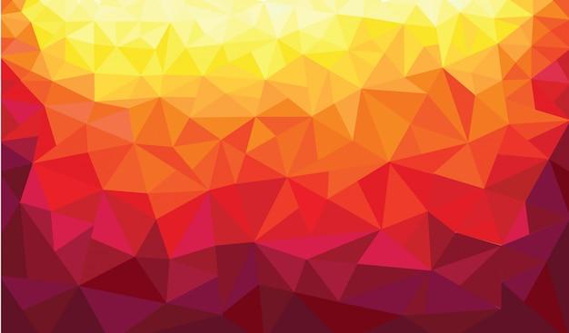 Warmer farbhintergrund des abstrakten dreiecks