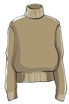 Warmer strickpullover unisex kleidung gegen kälte