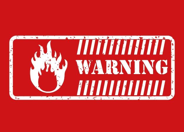 Warnschild design