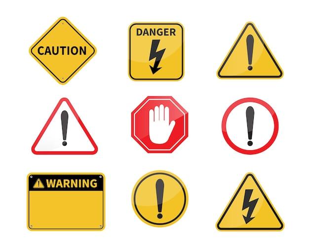 Warnschild leeres warnschild gefahr hochspannung