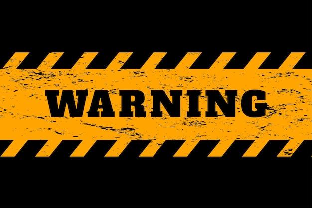 Warnung in gelben und schwarzen farben