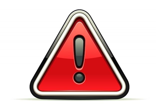 Warnung rotes zeichen