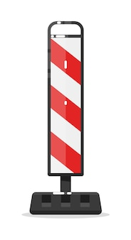 Warnung straßensperre barriere isoliert