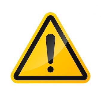 Warnzeichen der hochspannungsgefahr lokalisiert auf einem weißen hintergrund