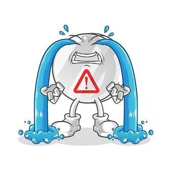 Warnzeichen weinende illustration