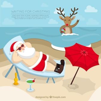 Warten auf weihnachten hintergrund