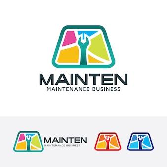Wartungsvektor-logo-vorlage
