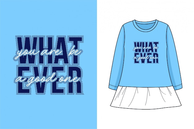 Was auch immer - grafisches t-shirt