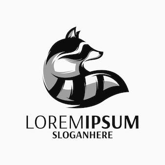 Waschbär logo vektor
