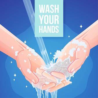 Wasche deine hände