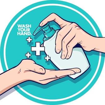 Wasche deine hand