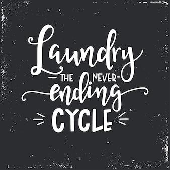 Waschen sie den nie endenden kreis auf handgezeichnetem typografieplakat