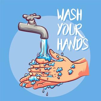 Waschen sie ihre hände (coronavirus)