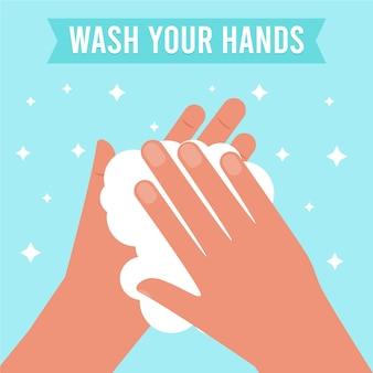 Waschen sie ihre hände konzept