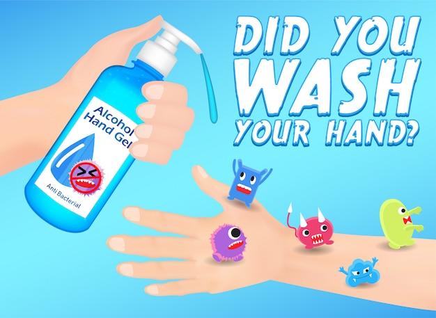 Waschen sie ihre hand, um infektionen vorzubeugen