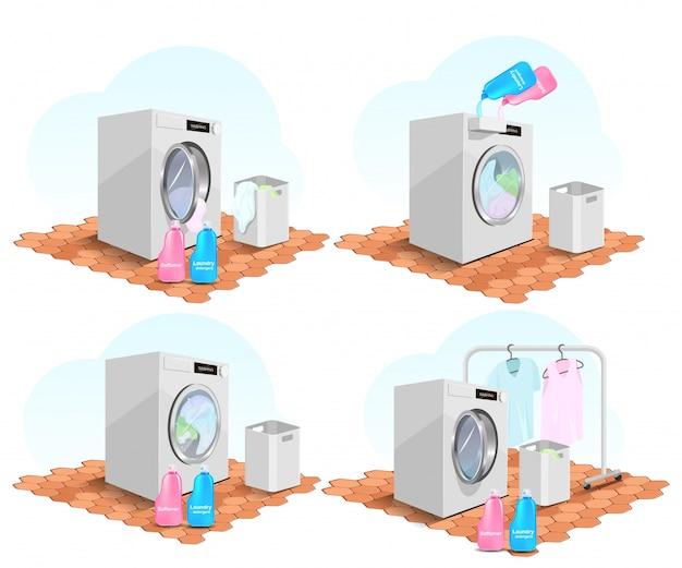Waschen von kleidung mit einer frontlader-waschmaschine