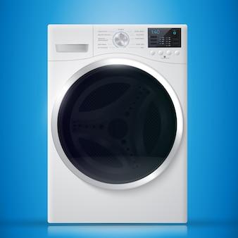 Waschmaschine auf blauem hintergrund.