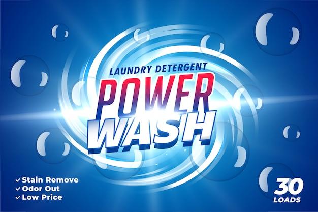 Waschmittelverpackung für power wash