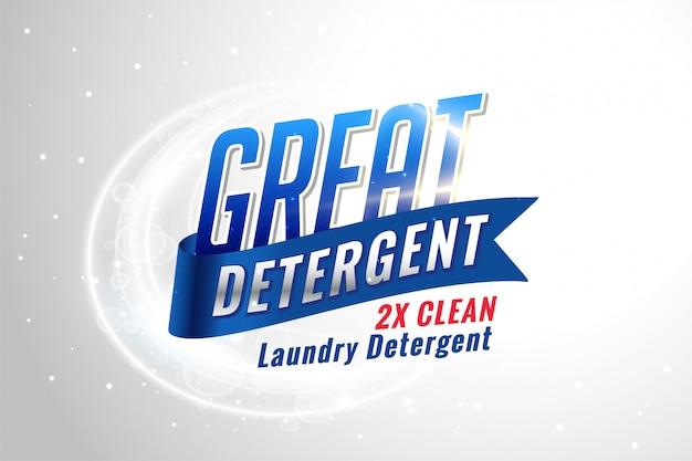 Waschmittelverpackung für saubere textilien