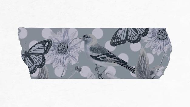 Washi tape collage vektor, druckbarer diy bullet journal sticker