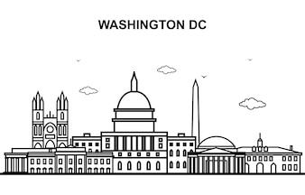 Washington DC-Stadtrundfahrt-Stadtbild-Skyline-Linie