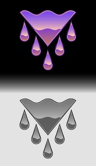 Wasser abstraktes vektor-vorlagen-design-emblem-logo, abstraktes vektor-vorlagen-design-emblem-logo für unternehmen, ökologie, universelle idee der geschäftstechnologie, vektorillustration