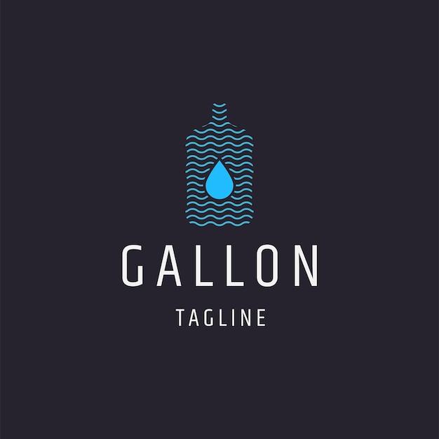 Wasser-gallonen-logo-symbol-design-vorlage flacher vektor