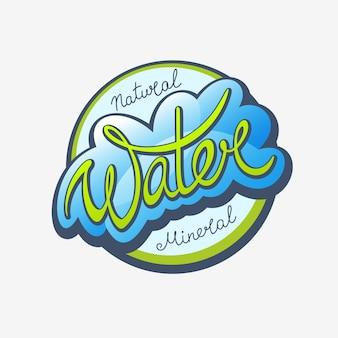 Wasser-kalligraphisches etikett