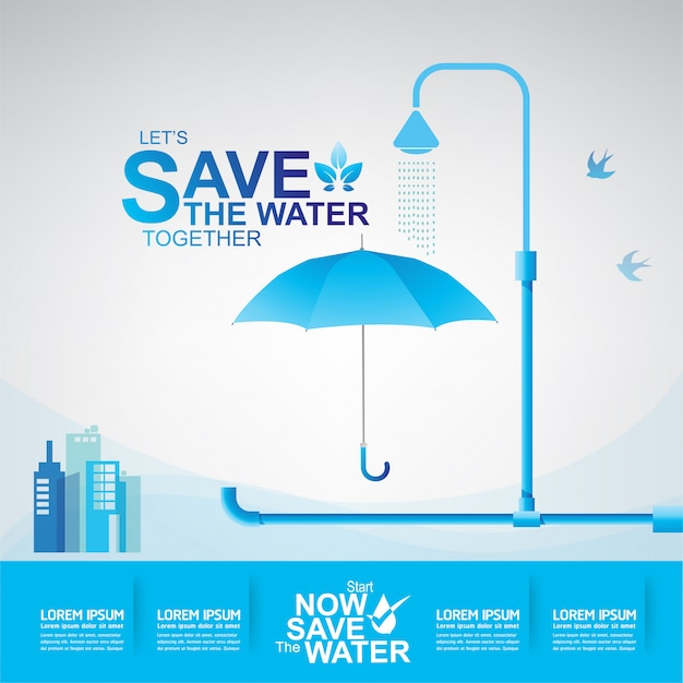 Wasser sparen hintergrund