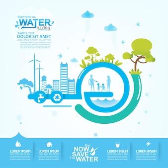 Wasser sparen hintergrund.