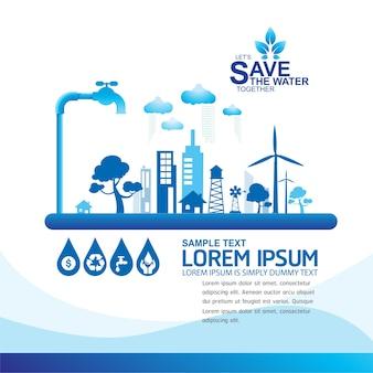 Wasser sparen wasser ist leben