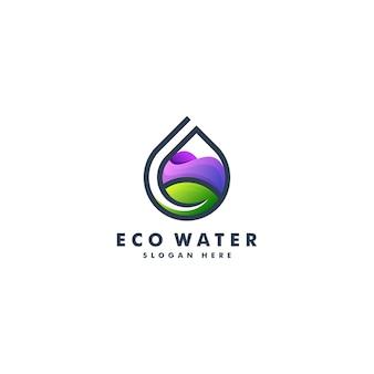 Wasser und blatt logo design. naturlogo