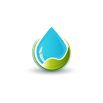 Wasser- und blattlogo