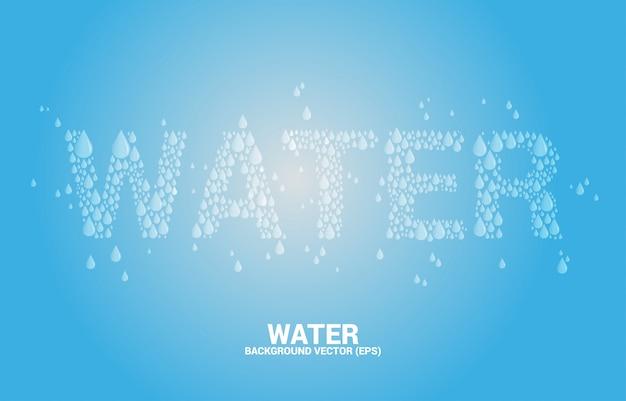 Wasserbenennung vom tropfenhintergrund