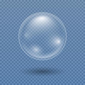 Wasserblase. transparente, realistische seifenblase.