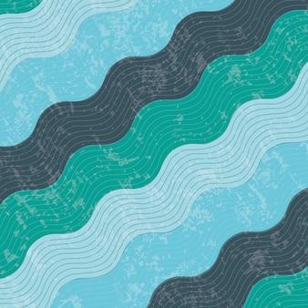 Wasserdesign über musterhintergrund-vektorillustration