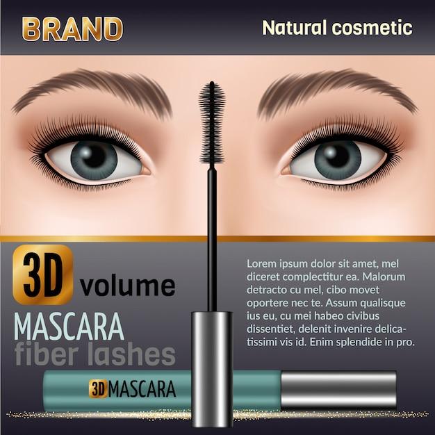 Wasserdichtes mascara design bild.