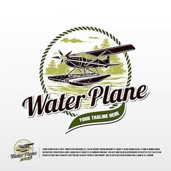 Wasserflugzeug logo vorlage