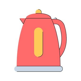 Wasserkocher teekanne küchengeräte flacher stil