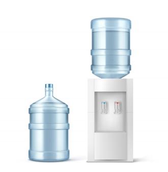 Wasserkühler und große flasche für büro und zuhause