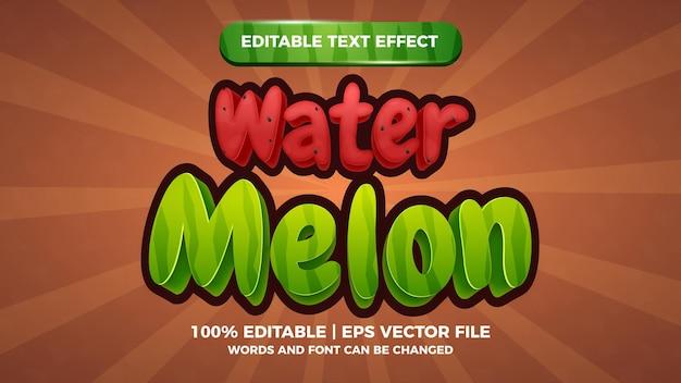 Wassermelone bearbeitbarer texteffekt