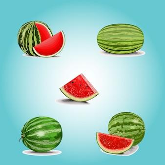 Wassermelone clipart set