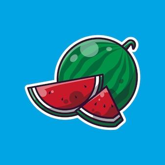 Wassermelone einfaches design und