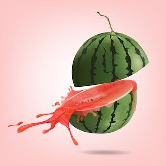 Wassermelone geschnitten